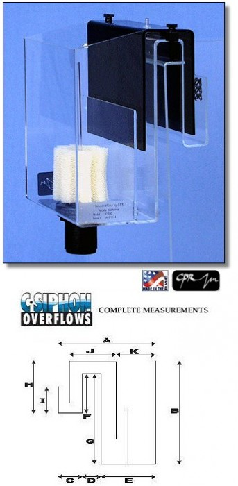 CPR CS50 Aquarium Overflow Box